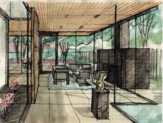 Image 36 of 36 from gallery of Orchard East / Wheeler Kearns Architects. Art And Architecture, Sketches, Watercolor, Architects, Gallery, Drawings, Photography, Painting, Interior