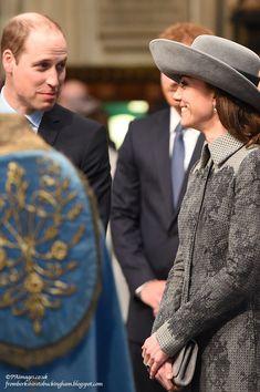 fromberkshiretobuckingham:  Commonwealth Service, Westminster Abbey, March 14, 2016-The Duke and Duchess of Cambridge