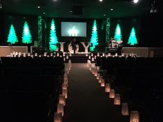Luxury Christmas Stage Decorations Church