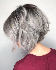Silver Angled Bob Hairstyles Ideas for Spring 2018