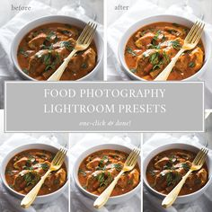 Take your food photography to the next level with this one-click food photography Lightroom presets pack! This pack includes 23 presets, covering standard edits, backlit food, deep & moody shadows, and vintage matte. Stop wasting time in Lightroom and start connecting with more readers and growing your traffic. With a preset for almost every situation, you're one click away from perfect edits.