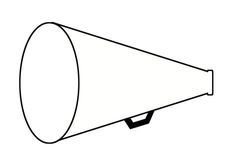 printable cheer megaphone outline cheer pinterest cheer megaphone cheer and outlines. Black Bedroom Furniture Sets. Home Design Ideas