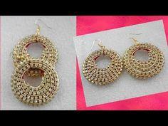 DIY/How to make silk thread earrings/ silk thread earrings making tutorial / party wear earrings Silk Thread Earrings Designs, Silk Thread Bangles Design, Silk Thread Necklace, Thread Jewellery, Beaded Jewelry, Jewellery Diy, Jewellery Designs, Earrings Handmade, Handmade Jewelry