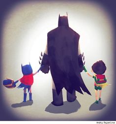 Batgirl, Batman and Robin