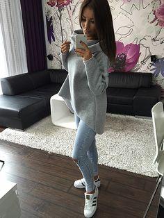 S xl одежду рождество 2016 новое поступление женщины зимние шарф ошейник с длинным рукавом мода свободного покроя стиль осень кофты купить на AliExpress