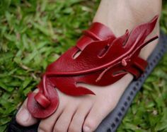 Leather Sandals-Fire