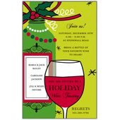 Dreaming of a Wine Christmas Holiday Christmas Party Invitations
