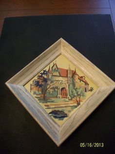 Vintage Paint By Numbers Picture of Cathedral or by ikolekt4U, $12.00
