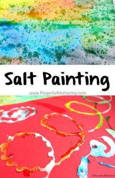Salt Painting to include fine motor skills