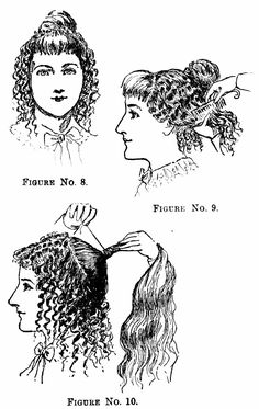 1890 hairstyles and combs. This is an American publication. Check against English photos.