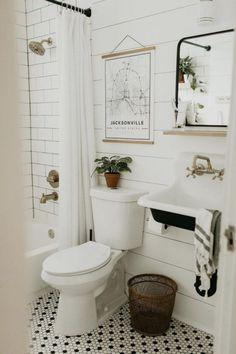 Modern Vintage Bathroom, Simple Bathroom, Modern Bathroom Design, Bathroom Interior Design, Bathroom Ideas, Bathroom Renovations, Bathroom Small, Bathroom Layout, Bathroom Designs