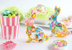 The Ultimate (Multi-Colored, Candy-Speckled, Swirly-Sweet) Chocolate Easter Bunny on Etsy