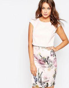 Ted Baker Moline Torchlit Floral Layer Dress (Size 2)