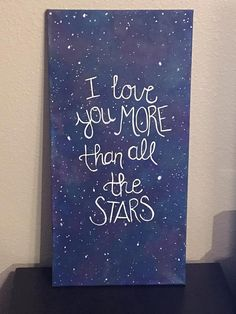 I Love You More Than All the Stars  Starry by CraftyMindsBoutique