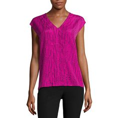FREE SHIPPING AVAILABLE! Buy Worthington Short Sleeve V Neck Knit Blouse at JCPenney.com today and enjoy great savings.