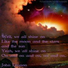 We all shine on... -John Lennon https://www.facebook.com/AnEvolvingFaith