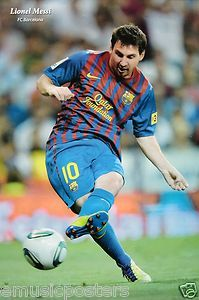 messi in action   Lionel Messi in Action Football Poster FC Barcelona Soccer   eBay