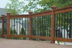 Composite Deck Railing Ideas View 100s of Deck Railing Ideas http://awoodrailing.com/2014/11/16/100s-of-deck-railing-ideas-designs/