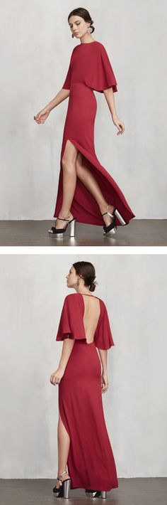 Totally flattering and glamorous cocktail dress — imagine walking in to the christmas party in this lovely piece.