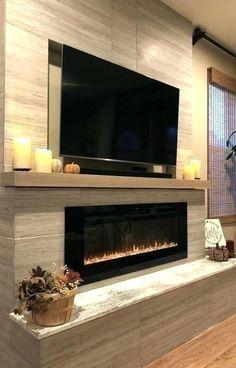 Interior Design: 35 Ideas How To Get A Modern Home inspirierendes modernes Wohnzimmer, flacher Kamin, Design-Idee Linear Fireplace, Home Fireplace, Fireplace Remodel, Living Room With Fireplace, Fireplace Ideas, Fireplace Hearth, Mantel Ideas, Farmhouse Fireplace, Fireplace Inserts