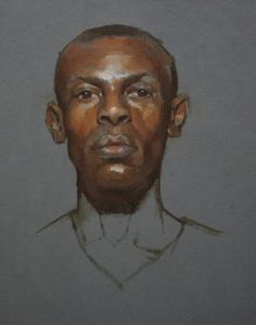 Portrait of a Man, Oil on Prepared Paper, 12 x 9 2013   Private Collection