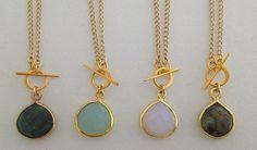 """""""Mini Riggings"""" Necklaces -- light pink rose quartz"""