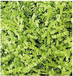 "Lime Crinkle Cut Fill.   • Size: 10 lb. Box of fill measures 24"" L x 16"" W x 12"" H • Made of 100% Recycled Paper • Recyclable • Made in the USA • Veryfine Cut is a Trademark of Spring-Fill Industries, Inc. • Please allow 3 - 5 business days for processing • Additional time might be required during peak holiday season • Price is for one box of Veryfine Cut Eco-Spring Fill"
