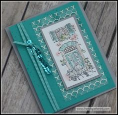 Watercolored card using Mediterranean Moments by Stampin' Up!