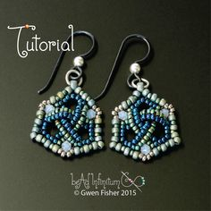 Trefoil Triangle Earrings