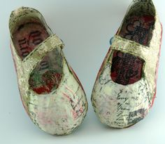 Paper Mache Mary Jane Shoes Altered – Saved By Love Creations