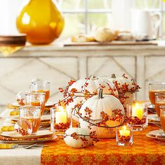 14 different ways to set a pretty harvest table