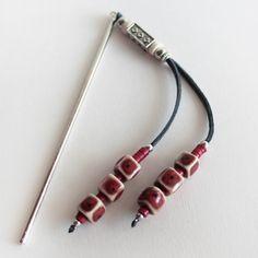 Pic à cheveux métal argenté, Accessoire Coiffure Chignon Bohème, Boho, Ethnique Chic,