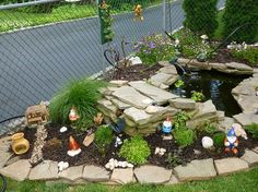 garden with water feature