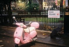 The Soho Square (by Berk Akşen) Soho, Pink Vespa, New York Life, Square Photos, Everything Pink, Vintage Love, Touring, Pretty In Pink, Good Times