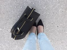 jeans and black