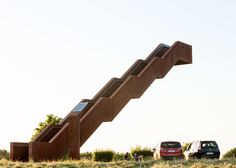 Gravity-defying staircase by Close to Bone climbs up to the sky