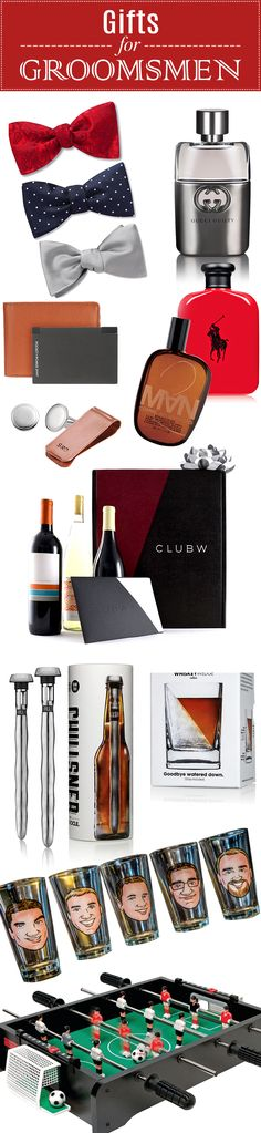 Awesome groomsmen gifts they'll actually use!