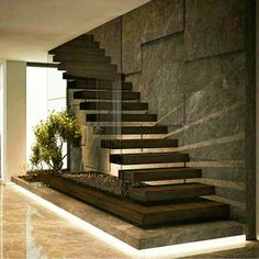 By Demirhan Gurman Via: by architecture_hunter Home Stairs Design, Interior Stairs, Modern House Design, Modern Stairs Design, Interior Office, Stairs Architecture, Architecture Design, House Staircase, Staircases