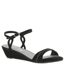 Mallory is the perfect little black wedge sandal for your bridesmaids...and it's comfy! #WeddingShoeInspirations