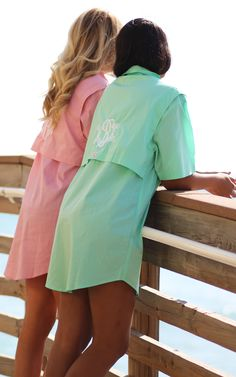 Perfect shirt to throw on for any beach day!! Check out our NEWWW Monogrammed Fishing Shirts!!