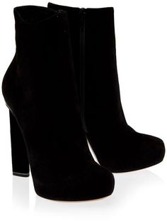 Squared Heel Ankle Boots