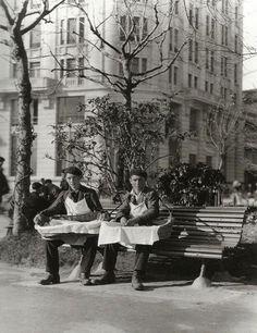 Vendedores de churros 1926 en A Coruña.