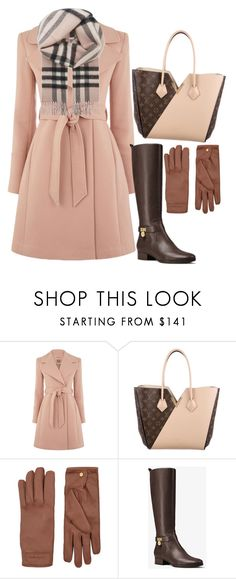 """Untitled #675"" by dreamer3108 on Polyvore featuring Louis Vuitton, Burberry and MICHAEL Michael Kors"