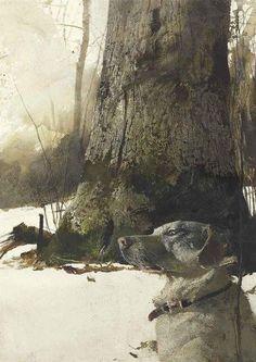 Andrew Wyeth, Rocky hill, 1977