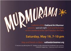 Postcard for Oakland Art Murmur's Murmurama event
