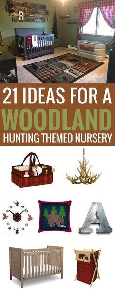 #woodland #forest #nursery Woodland Hunting Themed Nursery, lumberjack, buffalo check plaid