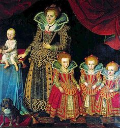 1623 Kirsten Munk with her children. Leonora is the smallest daughter