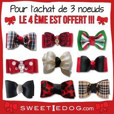Noeud pour chiens - Noeuds Noël - www.sweetiedog.com