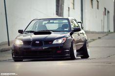 Low & Loud // Vic's Slammed Subaru STI. | Stance:Nation - Form > Function