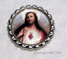 -f026c- Kronkorken Magnet, JESUS 3, € 2,80 , bottlecap von Mondcatze´s Zauberwerkstatt auf http://de.dawanda.com/shop/Mondcatze